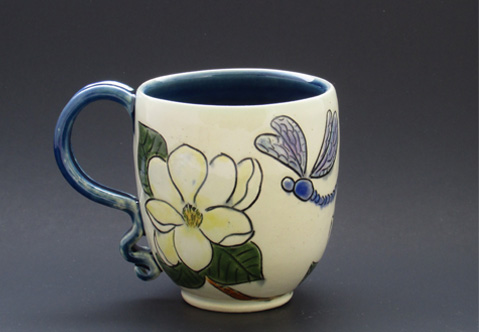 Magnolias and Drangonflies Cup